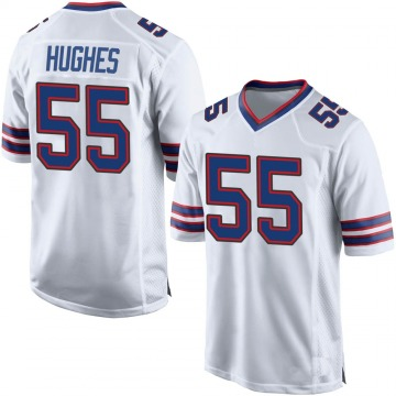 Men's Buffalo Bills Jerry Hughes White Game Jersey By Nike