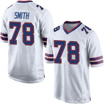 Youth Buffalo Bills Bruce Smith White Game Jersey By Nike