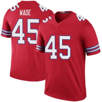 Youth Buffalo Bills Christian Wade Red Legend Color Rush Jersey By Nike