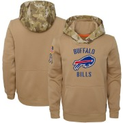 Youth Buffalo Bills Khaki 2019 Salute to Service Therma Pullover Hoodie By Nike